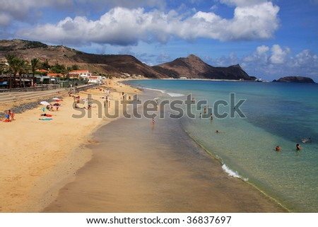 Porto Santo beach, Madeira Islands, Portugal