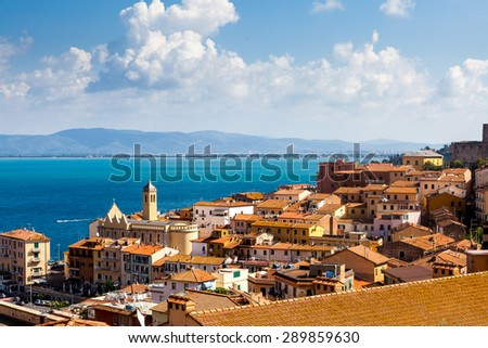PORTO SANTO STEFANO, ITALY - OCTOBER 5: Exterior views of the small city Porto Santo Stefano on the Monte Argentario Island on October 5, 2009. Monte Argentario is an island at the Tuscany coast.