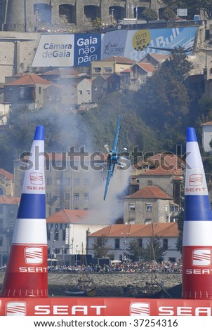 PORTO - SEPTEMBER 13: MICHAEL GOULIAN  of the USA participates in the Red Bull Air Race in September 13, 2009 in Porto in Portugal