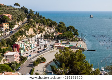 PORTO VENERE, ITALY - OCTOBER 8: Views of Porto Venere, a town located on the Ligurian coast of Italy on October 8, 2009. In 1997 Porto Venere were designated by UNESCO as a World Heritage Site.