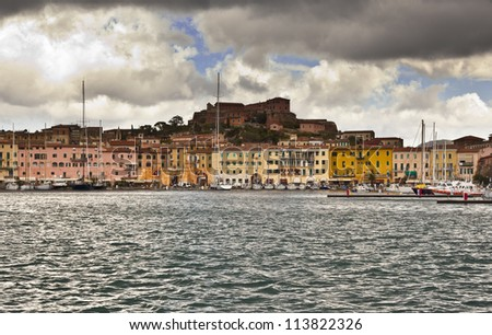 Portoferraio, island of Elba in storm