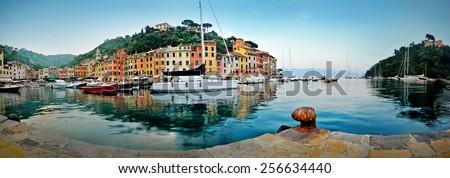 Portofino panoramic  view - stock photo