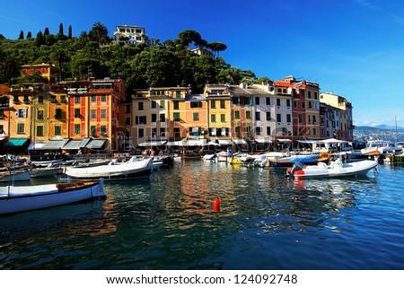 Portofino village, Ligurian Coast, Italy - stock photo