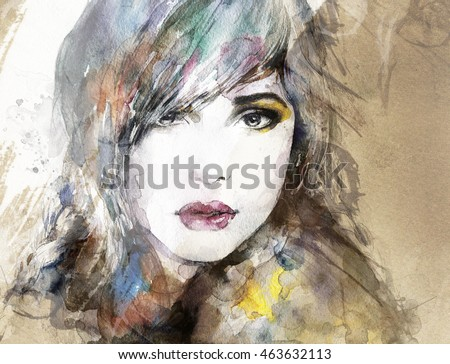 Portrait. Abstract illustration