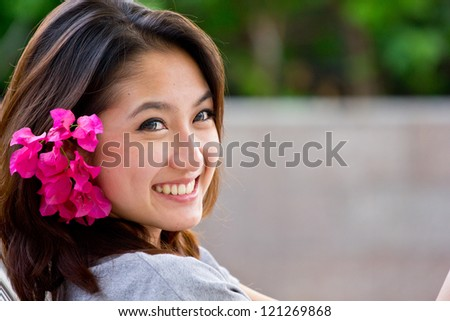 Portrait beautiful Asian Girl - stock photo