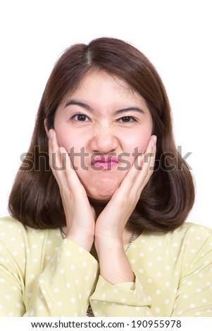 Portrait beautiful Asian Girl in studio - stock photo