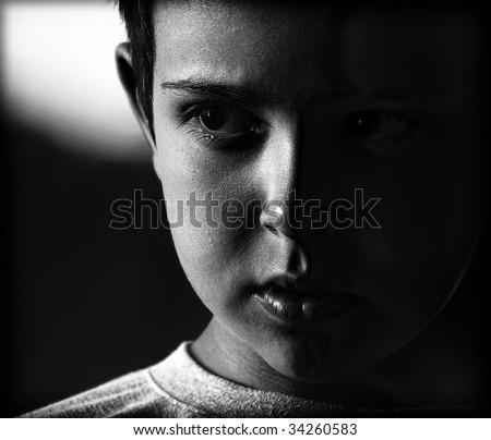 portrait , boy - stock photo