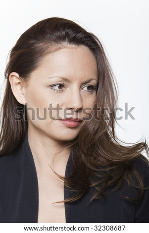 portrait expressive woman isolated background of a beautiful asian woma
