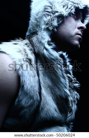 portrait fashion men in fur