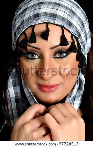 Portrait for a middle eastern female - stock photo