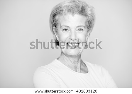 Portrait from a happy senior woman