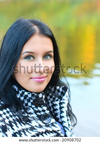 Portrait Girl on nature background