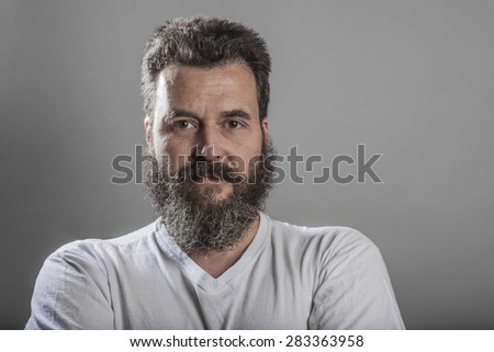 Portrait, man with full beard