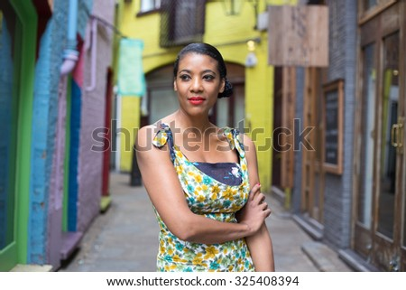 portrait of a african american woman - stock photo