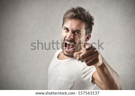 portrait of a angry young man