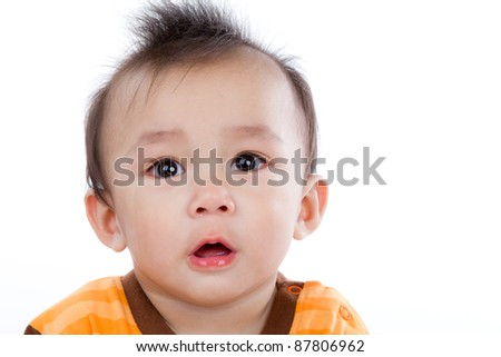 Portrait of a baby boy isolate on white background