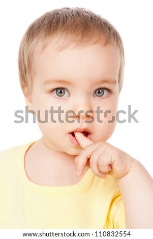 Portrait of a baby, isolated on white