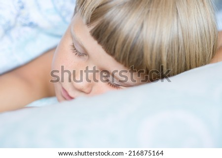 Portrait of a baby sleeping  - stock photo