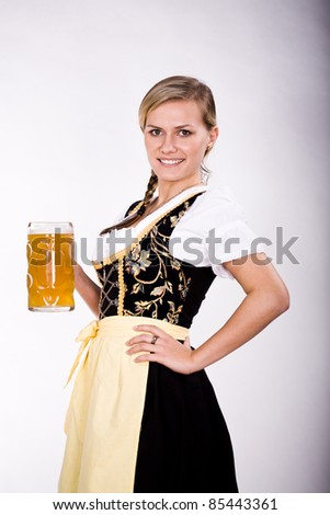 portrait of a bavarian woman in the dirndl
