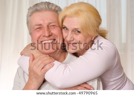 portrait of a beautiful and happy old couple
