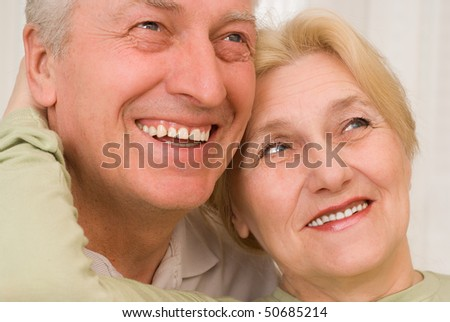 portrait of a beautiful and  old couple
