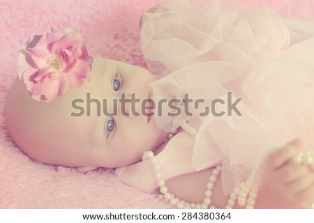 Portrait of a beautiful  baby
