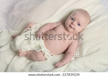 Portrait of a beautiful baby girl - stock photo