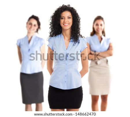 Portrait of a beautiful businesswoman - stock photo