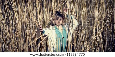 portrait of a beautiful girl - stock photo