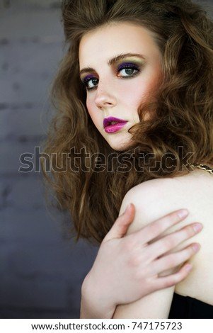 Portrait of a beautiful girl. Fashion photography
