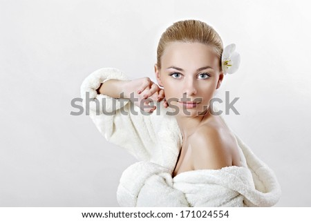 portrait of a beautiful girl glamorous fashion - stock photo