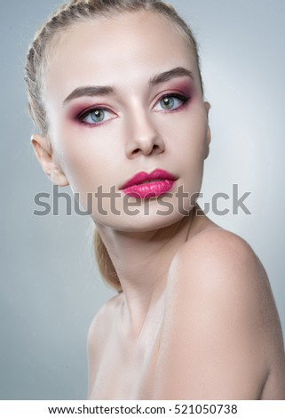 portrait of a beautiful girl glamorous girl