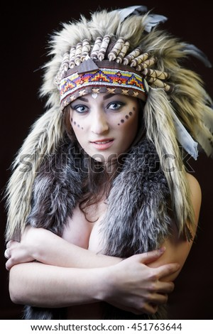 teen indian girl feathers