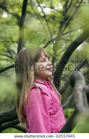 Portrait of a beautiful girl of three years - stock photo