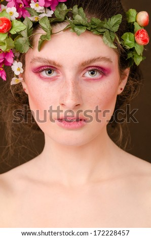 portrait of a beautiful girl symbol of grace and spring time