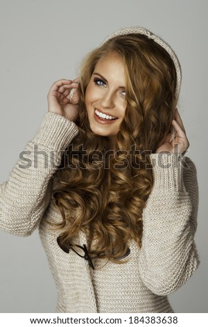portrait of a beautiful healthy woman  - stock photo