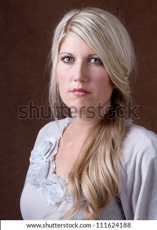Portrait of a beautiful middle aged 30- 40 year old woman