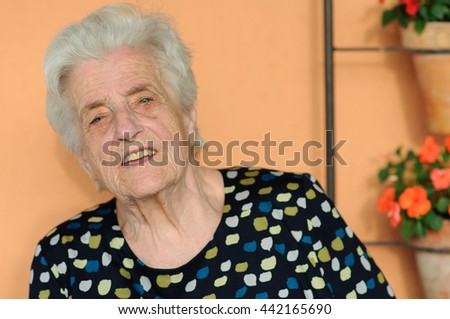 Portrait of a beautiful pensioner