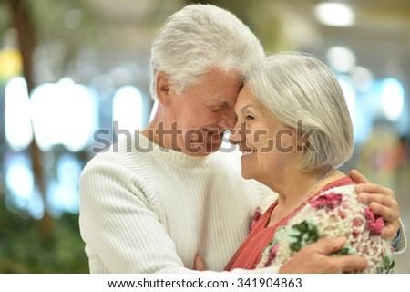 Portrait of a beautiful senior couple on a walk