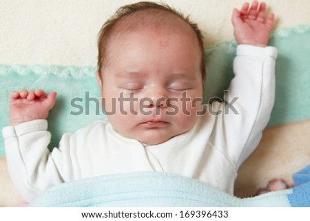portrait of a beautiful sleeping baby