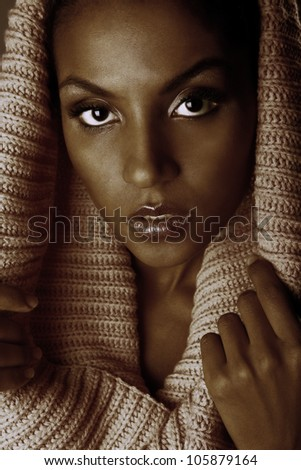 Portrait of a beautiful woman - stock photo