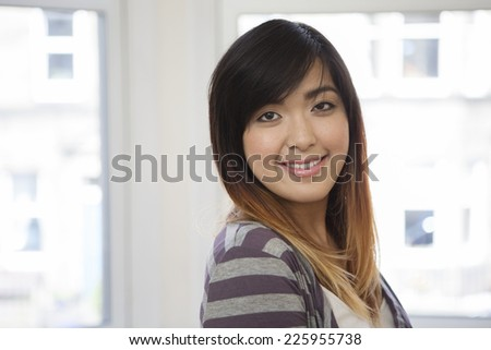 Portrait of a Beautiful young Asian woman.