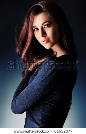 Portrait of a beautiful young woman.