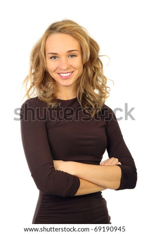Portrait of a beautiful young woman .isolated background