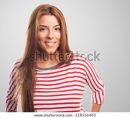 portrait of a beautiful young woman posing standing