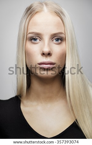 stock photo portrait of a beautiful young woman with blonde hair 357393074