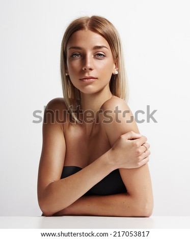 portrait of a beauty blondie woman