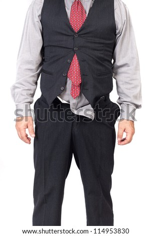Portrait of a business man looking depressed - stock photo