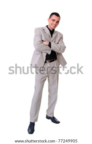 portrait of a Business man  on a white background