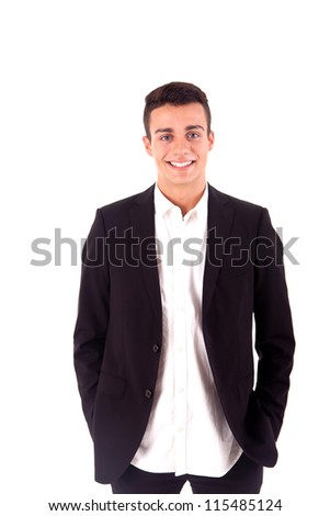 Portrait of a business man over white background